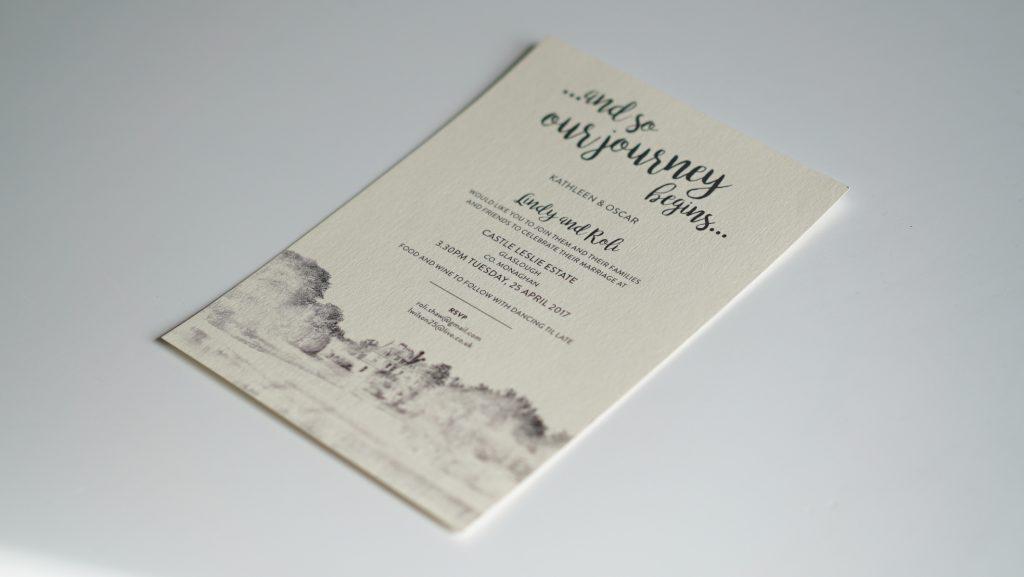 Wedding Invites - Lindy and Roli - Wedding Stationery - Belfast Printing - Kaizen Weddings