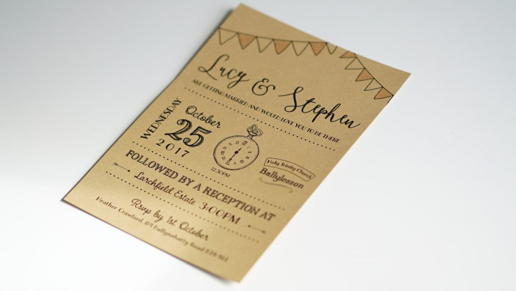 Wedding Invites - Lucy and Stephen - Wedding Stationery - Belfast Printing - Kaizen Weddings