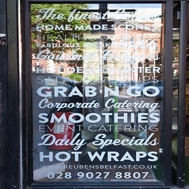 window vinyl | kaizen print belfast