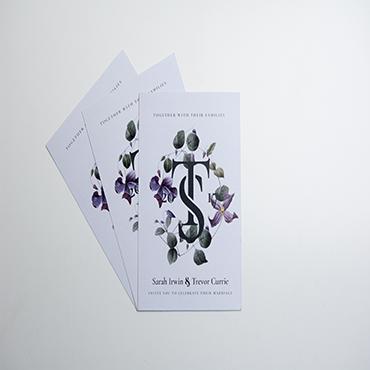 Sarah and Trevor Wedding Invite - Bespoke Wedding Stationery - Belfast Printing - Kaizen Print