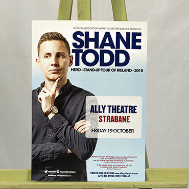 A3 Poster - Shane Todd - Large Format Poster Printing - Belfast Printing - Kaizen Print