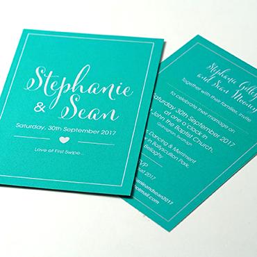 Stephanie and Sean Wedding Invite - Bespoke Wedding Stationery - Belfast Printing - Kaizen Weddings