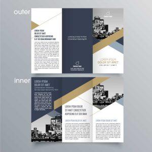 roll fold c fold leaflet