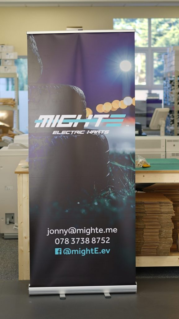 Might-E Roller Banners - Roller Banner Printing - Kaizen Print - Belfast Printing