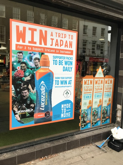 Lucozade Sport Window Graphics