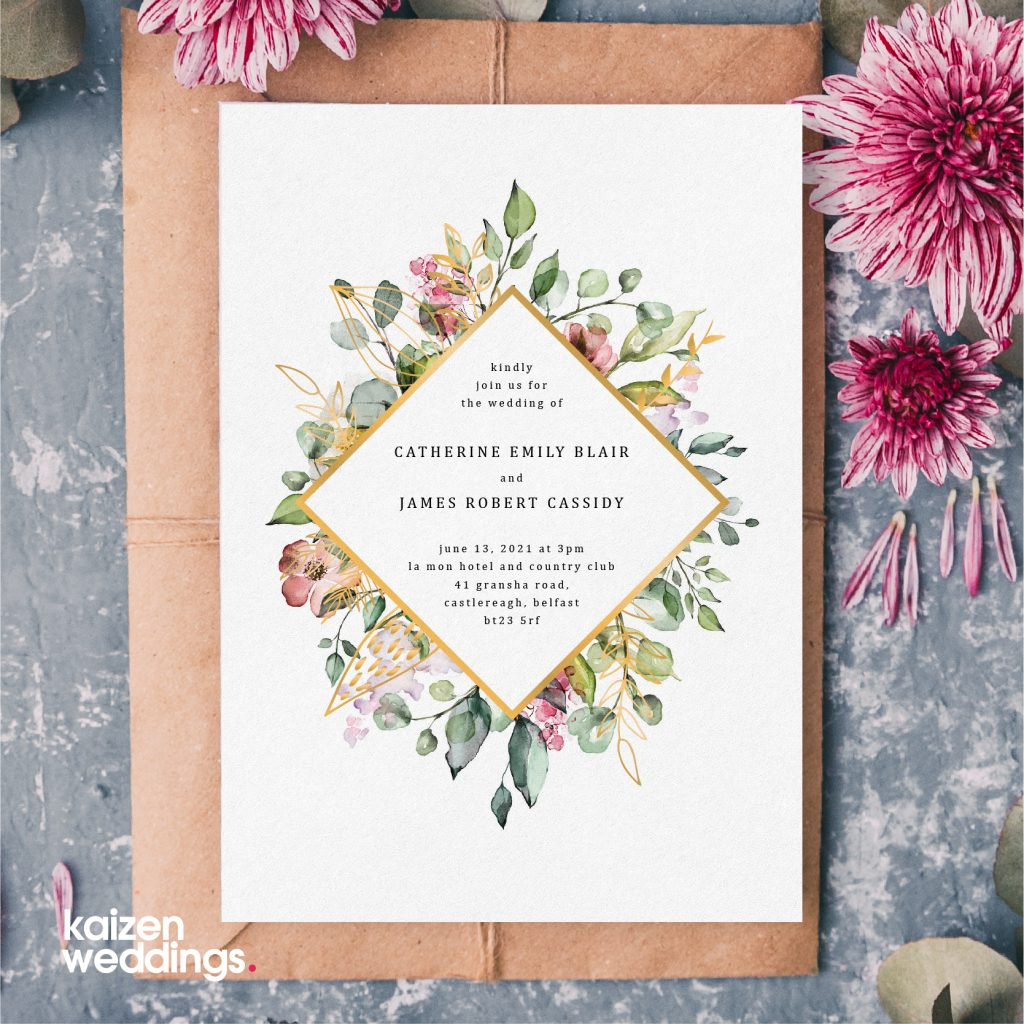 Wedding Stationery, Kaizen Weddings. Kaizen Print