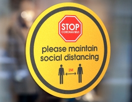 Social Distancing Window Stickers