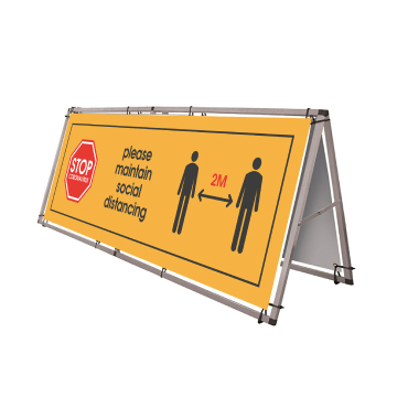 Waterproof Social Distancing A-Frame - Outdoor PVC Banner