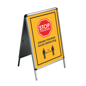 outdoor social distancing - A boards
