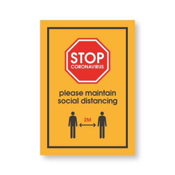 Waterproof Social Distancing Posters