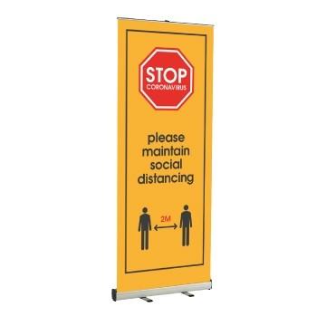 Social Distancing Roller Banners - Kaizen Print