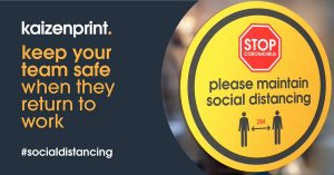 Return to Work Social Distancing Print - Safety