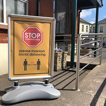 Social Distancing A-Board - Outdoor Sign