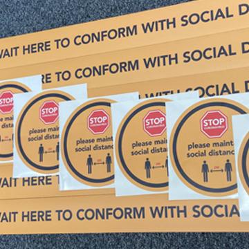 Social Distancing Anti Slip Floor Stickers Vinyl