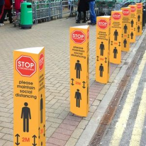 outdoor social distancing - Bollard Covers