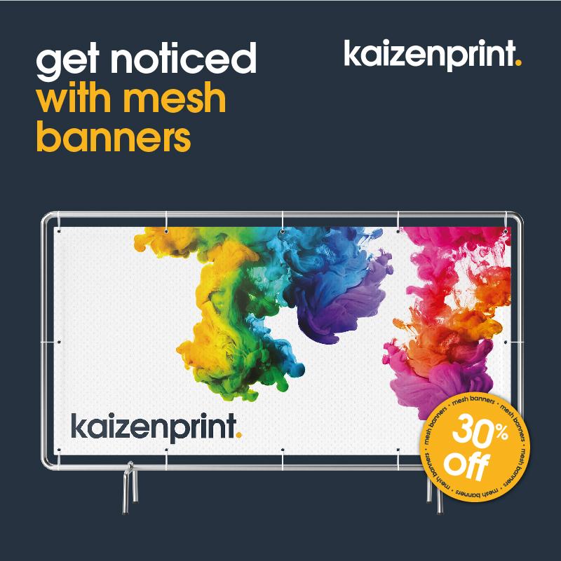 mesh banner printing | kaizen print