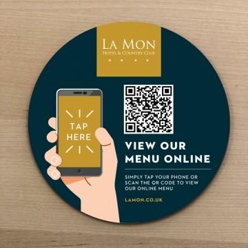 NFC QR Code Menu Discs