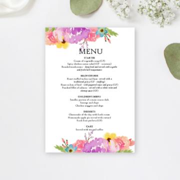 Wedding event menu printing IrelandQuality Event Menu Printing - Online Printing Services