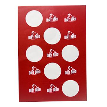 Circular labels printed on A4 sheets - Online Printing