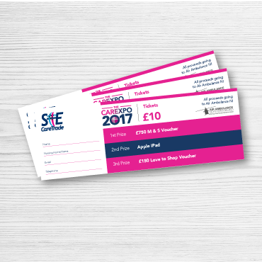 raffle book ticket printing - online printing services UK