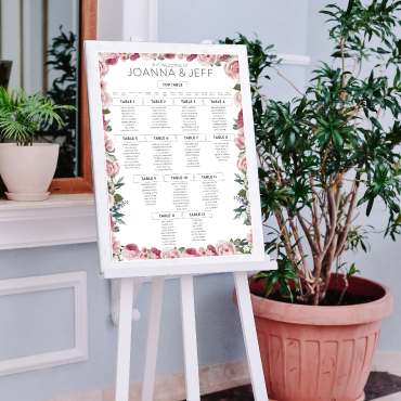 Wedding Table Plan Printing - A2, A1