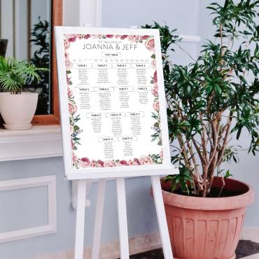 Wedding Table Plan Printing - A2, A1