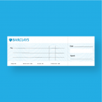 Barclays Large Presentation Cheque - Big Cheque - Presentation Cheque Printing - Online Printing Services UK