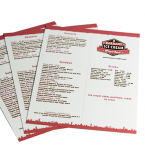Durable Heavy Laminate Menu Printing - Online Printing - Digital Printing