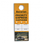 Bavarian vehicle window hanger printing UK back