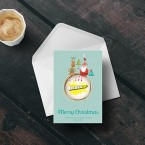 Corporate personalised Christmas cards