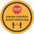 Anti Slip Floor Vinyl - Social Distancing Floor Stickers - Circular