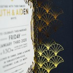 Gatsby Inspired Gold Foiled Wedding Invitation