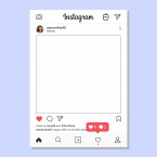Bespoke Instagram Selfie Frame - Online Printing Services UK