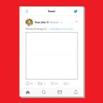 Personalised Twitter Selfie Frame Printing - Online Printing Services UK