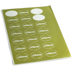 Oval sticker printing IrelandOval Stickers Printed on A4 Sheets - Digital Printing Online