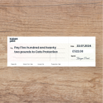 Personalised Presentation Cheque Printing