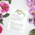 Wedding Stationery RSVP Card Printing