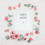 Save the date wedding stationery printing - online printing services uk