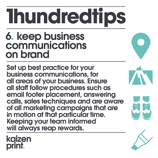 keep business communications on brand