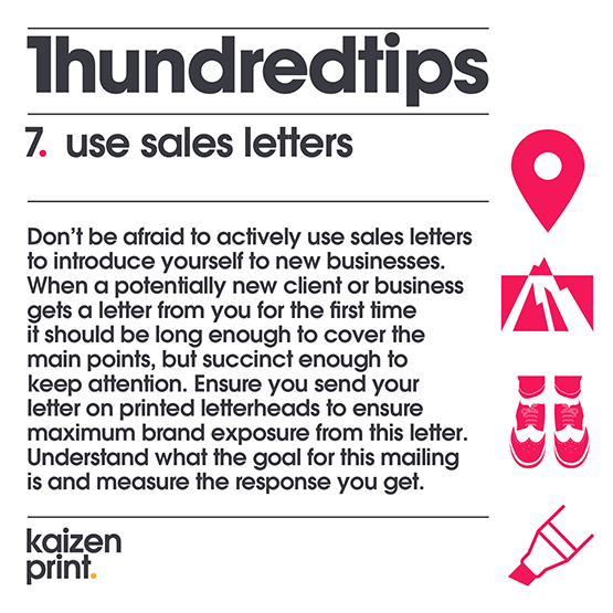 use sales letters