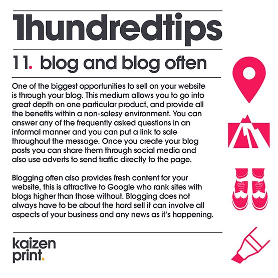 blog often