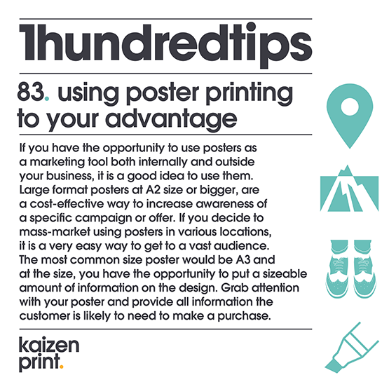 using poster printing to your advantage