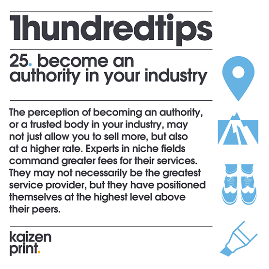 become an authority in your industry