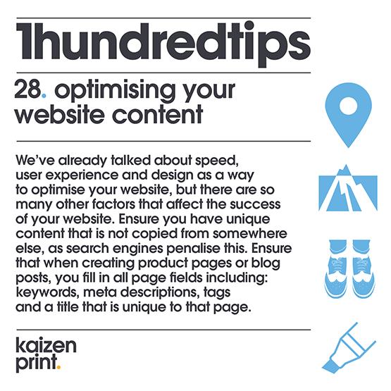 optimising your website content