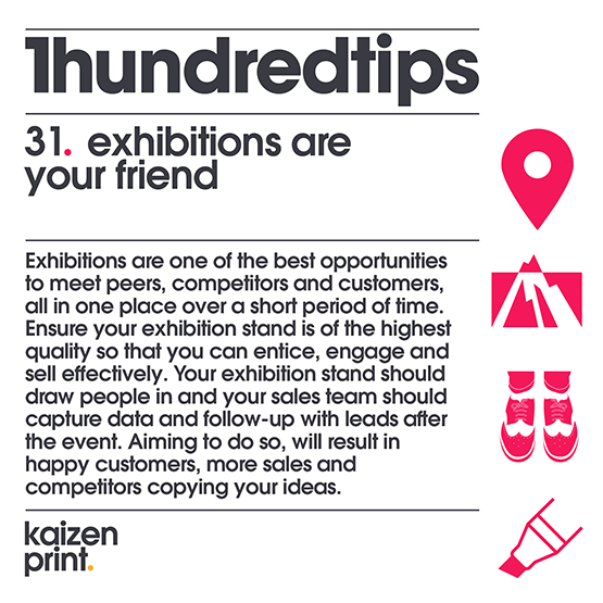 exhibitions are your friend