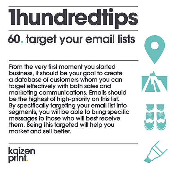 target your email lists