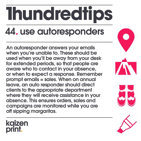 use autoresponders