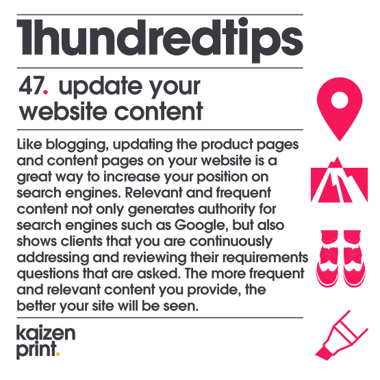 update your  website content
