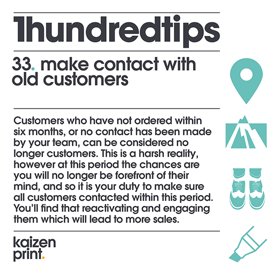 make contact with  old customers