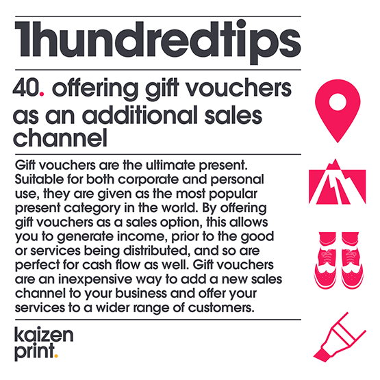 offering gift vouchers as an additional sales channel